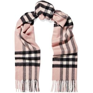 Accessories - Baby Pink Check Scarf